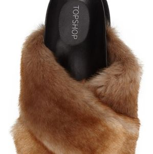 Topshop Harissa Faux Fur Slide Sandal